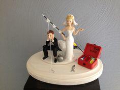 Fishing Wedding Cake Topper Etsy