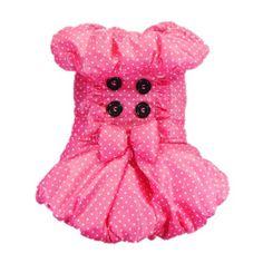Sweetie Retro Ploka Dot Dog Dress for Dog Coat « Pet Lovers Ads
