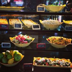 Fill in dead spaces of case with fruits and vegetables  Our beautiful deli case is full of fresh and flavorful options! Available daily!