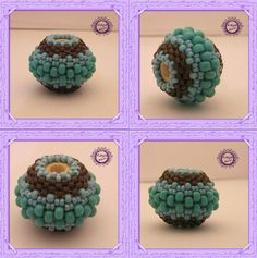 Beaded Bead di  Kaya bijoux !!!!! p.s. una perla in legno da 15mm con R8,R15,R11,D11     e voilàààààààààà lo SCHEMA !!!!!!!