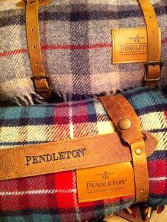 Warm plaid blankets by Pendleton