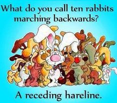 what do you call ten rabbits marching backwards?.........LOL!