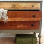 How To Make New Wood Look Old - pictured is a piece that is a mixed bag of painted and stained / waxed wood surfaces