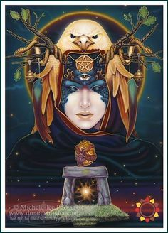 The Dreams of Gaia Tarot is a stunning deck of fantasy art from artist, Ravynne Phelan.-Mystical, visionary and fantasy art. Discover some of the most spiritual artwork by amazing artist from around the world. Fantasy Kunst, Fantasy Art, Cartomancy, Orisha, Tarot Readers, Visionary Art, Oracle Cards, Gods And Goddesses, Tarot Decks