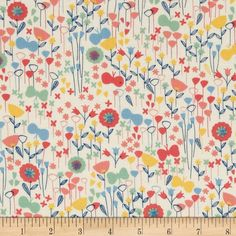 Kaufman London Calling Lawn Flower Buds Park from @fabricdotcom  Designed for Kaufman Fabrics, this very lightweight fabric is a finely woven, high count combed cotton lawn that is very soft and has an ultra smooth hand. It is perfect for flirty blouses, dresses, shirts, lingerie, tunics, tops and even quilting. Colors include coral orange, blue, green, yellow, and white.