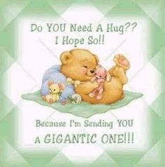 Hugs just for you💕 Hugs And Kisses Quotes, Hug Quotes, Kissing Quotes, Hug Pictures, Teddy Bear Pictures, Need A Hug, Love Hug, Teddy Bear Quotes, Hug Images