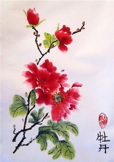 цветы в китайской живописи 3а