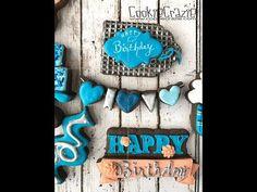 Birthday Bunting Decorated Sugar Cookie Tutorial Video - Cookie Crazie