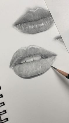 Drawing lips by Nadia Coolrista. Practicing freehand drawing of facial features. - Drawing lips by Nadia Coolrista. Practicing freehand drawing of facial features. More videos on my - Pencil Art Drawings, Art Drawings Sketches, Realistic Drawings, Portrait Sketches, Drawings Of Lips, Drawing With Pencil, Drawing Portraits, Pencil Sketching, Pencil Shading
