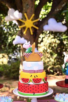 Ateliê Cris Ubara - Biscuit para festas: Topo de bolo cesta de picnic