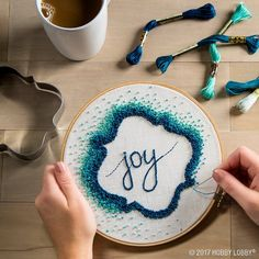 Get creative with your embroidery endeavors by incorporating fun cookie cutters for added design!