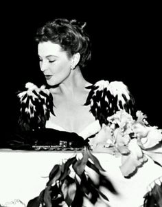 Vivien Leigh at a ball during the premiere of Gone With the Wind in Atlanta