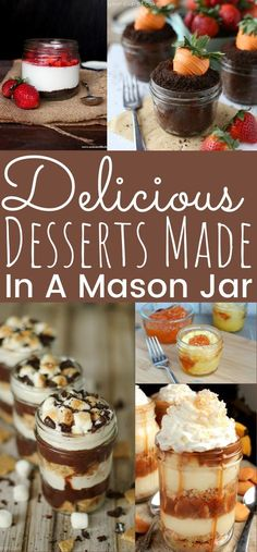Here's a list of delicious desserts made in a mason jar! Perfect mini dessert recipes to take on spring picnics! These Mason Jar Dessert Recipes will be the hit at your next gathering! - simplytodaylife.com #masonjardessert #desserts #minidesserts #minipies #masonjar #recipesinajar #picnicdessert