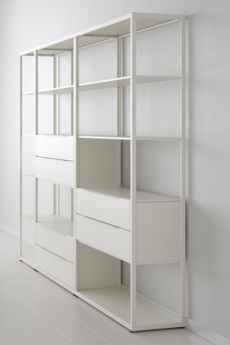 "Fjalkinge Shelving System - adjust 46""wide shelves to fit 32"" wide wall-mounted TV???"