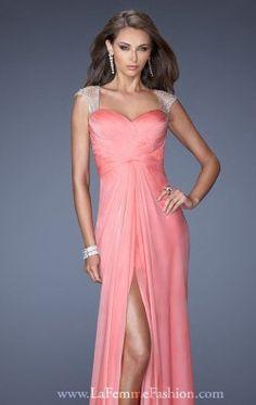 Embellished Open Back Gown by La Femme 19883