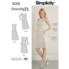 S8258 Misses' and Plus Size Amazing Fit Dress Simplicity Pattern