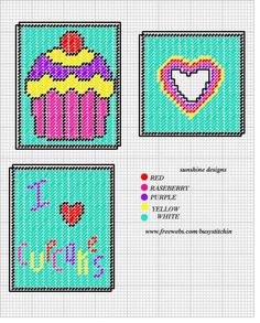 I LOVE CUPCAKES TISSUE BOX COVER by SUNSHINE DESIGNS