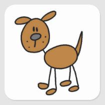 Shop Brown Dog Tshirts and Gifts Classic Round Sticker created by stick_figures. Cool Stickers, Round Stickers, Stick Figure Drawing, Rock Painting Designs, Brown Dog, Hand Painted Rocks, Dog Paintings, Stick Figures, Stone Art