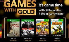 Games With Gold de março vai trazer Borderlands 2 e Evolve para o Xbox