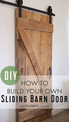 DIY Single Sliding Barn Door DIY Sliding Barn Door - How to Build Your Own Single Sliding Barn Door - National Hardware Sliding Barn Door Track Hardware with Spoke Wheels in Oil Rubbed Bronze Sliding Barn Door Track, Barn Door Closet, Sliding Barn Door Hardware, Sliding Doors, Door Hinges, Track Door, Rustic Hardware, Front Doors, Sliding Door Closet