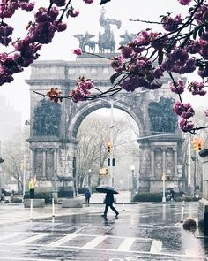 Historic Grand Army Plaza is the entrance way to Prospect Park in the NYC borough of Brooklyn
