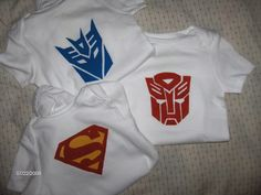 Superhero Onesies - totally want to make these!!