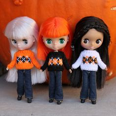 Sweater Sweeties, via Flickr. ~ Petite Blythes