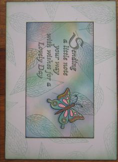 Stamped & coloured using Tim Holtz Oxide inks
