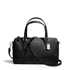 The Saffiano Mini Satchel In Leather from Coach Got this one too in a deep eggplant.  My fall bag. I am now cut off...!!!!!