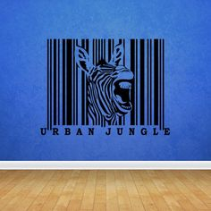 Wall Decal Vinyl Art Decor Sticker Design Zebra Animal Urban Jungle Horse Striped Bar Code Africa Mural Bedroom (M1086) DecorWallDecals http://www.amazon.com/dp/B00JYZSGG2/ref=cm_sw_r_pi_dp_IJK2ub026ST72