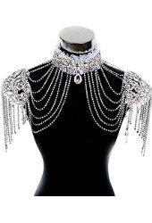 JY Jewelry SEXY Rhinestone Bikini Jewelry Bra Thong Belly Lingerie Body Chain BD29                                                                                                                                                                                 More