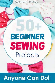 More than 50 free beginner sewing projects with free sewing patterns that are quick and easy to sew even if you are a sewing beginner. From easy pouch patterns, face wipes, cosmetic pads, coasters, hair bows and scrunchies, through free pencil case patterns, eye glass pouches, diy card wallet, a crayon roll, things to sew for home, curtains, easy pillowcase tutorial, mop pads, easy placemats, all the way to easy toy sewing projects and more. #freepatterns #beginnersewing #easypatterns… Baby Sewing Projects, Sewing Projects For Beginners, Crafty Projects, Sewing Hacks, Sewing Tutorials, Pencil Case Pattern, Pouch Pattern, Shabby Chic Crafts, Sewing Toys