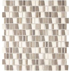 Marazzi Midpark Mosaics - Rainstorm - X Random Trapezoid Interlocking Glazed Porcelain & Stone Mosaic Tile Stone Mosaic Tile, Mosaic Wall Tiles, Mosaic Glass, Mosaics, Marazzi Tile, Tile Countertops, Backsplash, Mosaic Bathroom, Thing 1