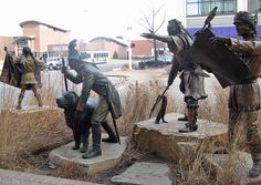"""""""On the Trail of Discovery,"""" 12th & Q Streets, Lincoln, NE"""