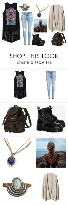 """Jane"" by alexkaity ❤ liked on Polyvore featuring Chicnova Fashion, H&M, Dr. Martens, Sweet Romance and The 2 Bandits"