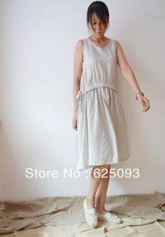 26266129b27 2013 Summer original design loose oversize leisure casual wear one-piece linen  dress ladies