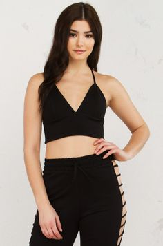King Cross Back Crop Top in Black(Get the Look at www.shopakira.com) #shopAKIRA #tops #cutetops #cuteoutfits #croptop #croptops #set #twopieceset #sets