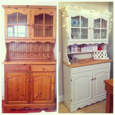 fixer upper inspired farmhouse hutch m bel holz m bel. Black Bedroom Furniture Sets. Home Design Ideas