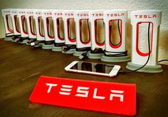 Charge your smartphone with a nifty 3D printed Tesla Supercharger