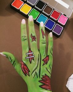 My rendition of a cartoon zombie hand. Happy with how it turned out.