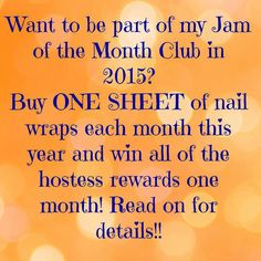 """I'm looking for 12 special ladies to """"Jam into the New Year"""" with me. I need 12 people who want to be a part of my """"Jam of the Month Club"""" for Mani Pedi, Manicure And Pedicure, Jamberry Christmas, Party Online, Nail Art Studio, My Jam, Bulk Order, Jamberry Nail Wraps, Pedicures"""
