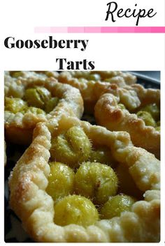 Are you are gardener with a glut of gooseberries? These small rustic open tarts are an easy recipe to bake using gooseberries. Click the image to visit my website for the recipe for Gooseberry Tarts Pie.
