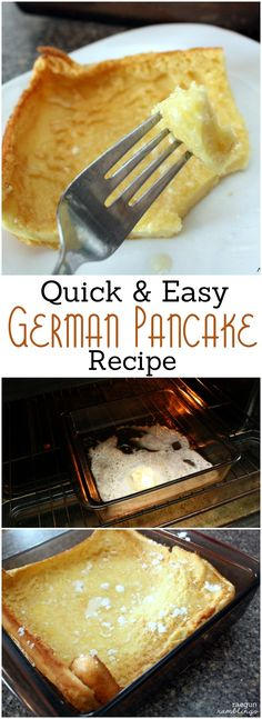 Recipe: German Pancakes for Two (or more) – Rae Gun Ramblings Great small batter recipe (serves 2 but can be easily increased). Love this Dutch Baby German Pancake recipe I've tried it so many times. from Rae Gun Ramblings Breakfast And Brunch, Breakfast Dishes, Breakfast Recipes, Breakfast Ideas, Pancakes For Two, Pancakes Easy, Pancakes And Waffles, Pancake Muffins, German Pancakes Recipe