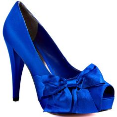 Paris Hilton Destiny - Royal Blue Satin found on Polyvore