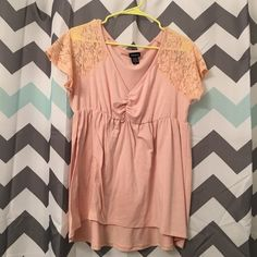 Torrid Babydoll Lace Sleeve Shirt Blouse Size 0X Torrid Peach Lace Sleeve Shirt Blouse Size 0X. Comes from a smoke free home. Let me know if you have any questions! torrid Tops Blouses