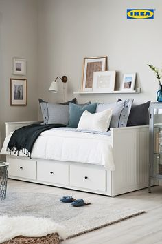 You're not dreaming. The IKEA Bedroom Event is on now until June Get . You're not dreaming. The IKEA Bedroom Event is on now until June Get … You're not dreaming. The IKEA Bedroom Event is on now until June Get off all bed frames. Ikea Daybed, Daybed Room, Bedroom Bed, Bedroom Decor, Hemnes Ikea Bedroom, Day Bed Decor, Teenage Bedroom Ideas Ikea, Ikea Small Bedroom, Home Decor Ideas