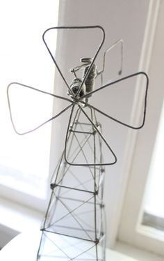 Wire Windmill by aprairiemarket on Etsy