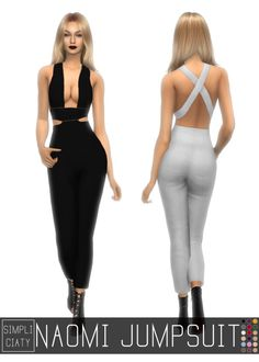 NAOMI JUMPSUIT at Simpliciaty • Sims 4 Updates