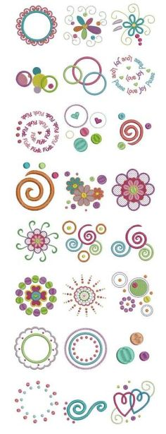 Embroidery | Free machine embroidery designs | Dots and Doodles by angela