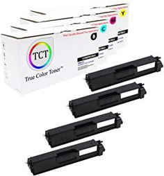 TCT Premium Compatible Toner Cartridge Replacement for Brother Works with Brother Printers (Black Cyan Magenta Yellow) - 4 Pack Toner Cartridge, Printers, True Colors, 1 Year, Crisp, Brother, It Works, Black, Black People